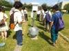 露場にある観測機器を見学.